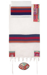 Jerusalem Color Hand Embroidered Tallit By Yair Emanuel