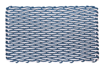 "Federal Blue & White Wave Doormat - Shown: COTTAGE  16"" x 26"" - $45.95"