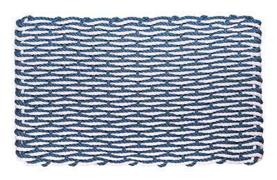 "Federal Blue & White Wave Doormat - Shown: COTTAGE  16"" x 26"" - $45.95"