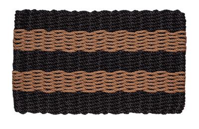 Black and Beige Shoreline Doormat