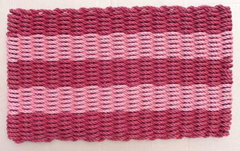 Burgundy and Brick Red Shoreline Doormat