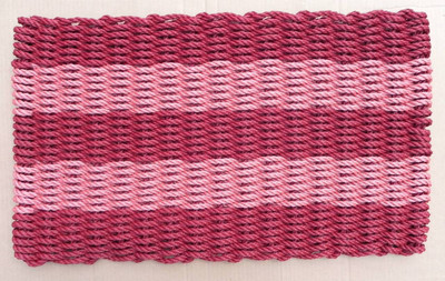Burgundy and Brick Red Shoreline Doormat
