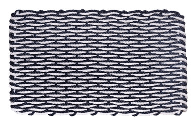 Inspired by Cape Cod's stunning seaside, the Wave Series Doormat is a beautiful double weaved doormat that will bring a touch of classic style to the entrance of your home. Cape Cod Doormats of Distinction are designed to withstand the heaviest traffic, trapping dirt, mud, snow or sand before anyone walks through your door. A Cape Cod Doormat is easy to maintain, just shake it or hose it clean with water. All of our doormats come with a 5 year limited warranty.