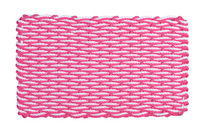 Hot Pink and White Wave Doormat