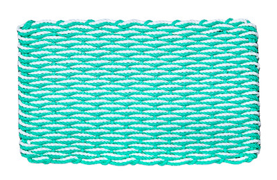 Mint and White Wave Doormat