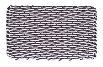 Slate Gray & White Wave Doormat
