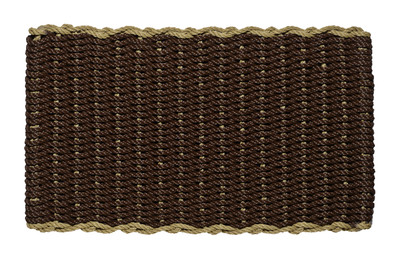 Border door mat - brown mat with sage border