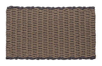 Border door mat - Taupe with Slate border