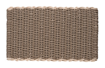 Border door mat - Taupe with Palomino Border