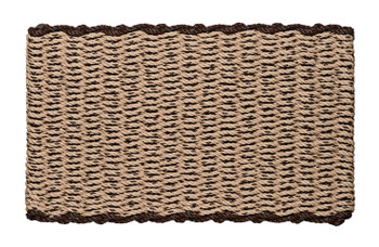 Border door mat - Mocha Chip with Brown Border