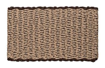 Border door mat - Mocha Chip with Brown Border