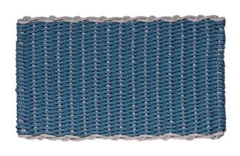Border door mat - Federal Blue with Gray