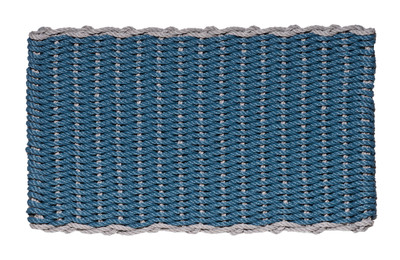 Border door mat - Federal Blue with Gray