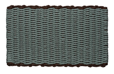 Border door mat - Bluestone with Brown Border