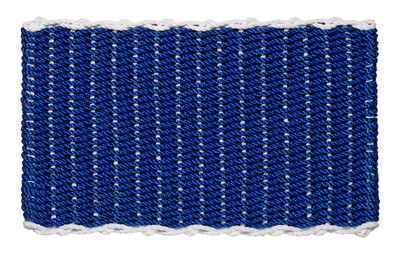 Border door mat - blue with white border