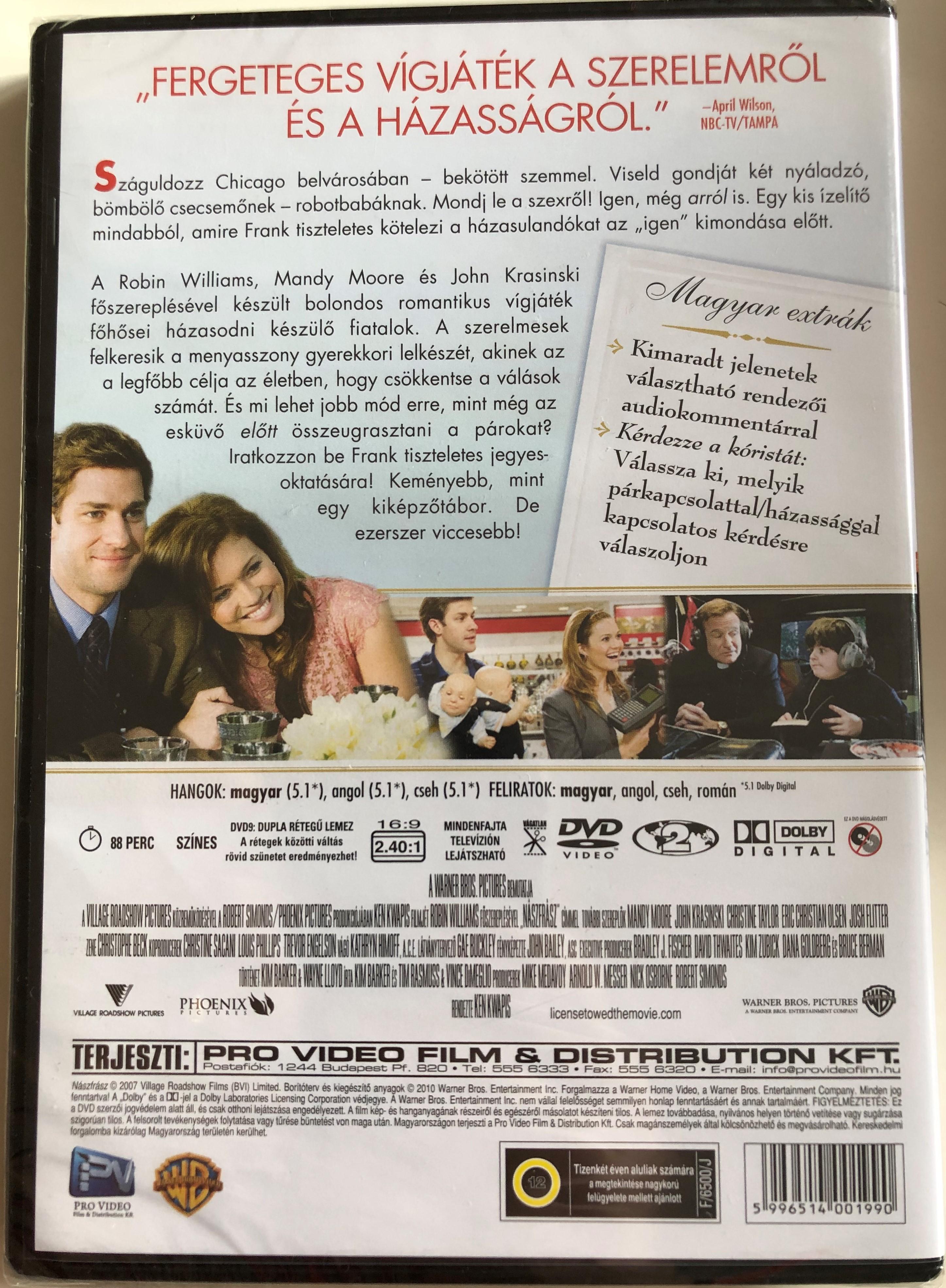 License To Wed Dvd 2007 Naszfrasz Directed By Ken Kwapis Starring Robin Williams Mandy Moore John Krasinski Christine Taylor Bibleinmylanguage