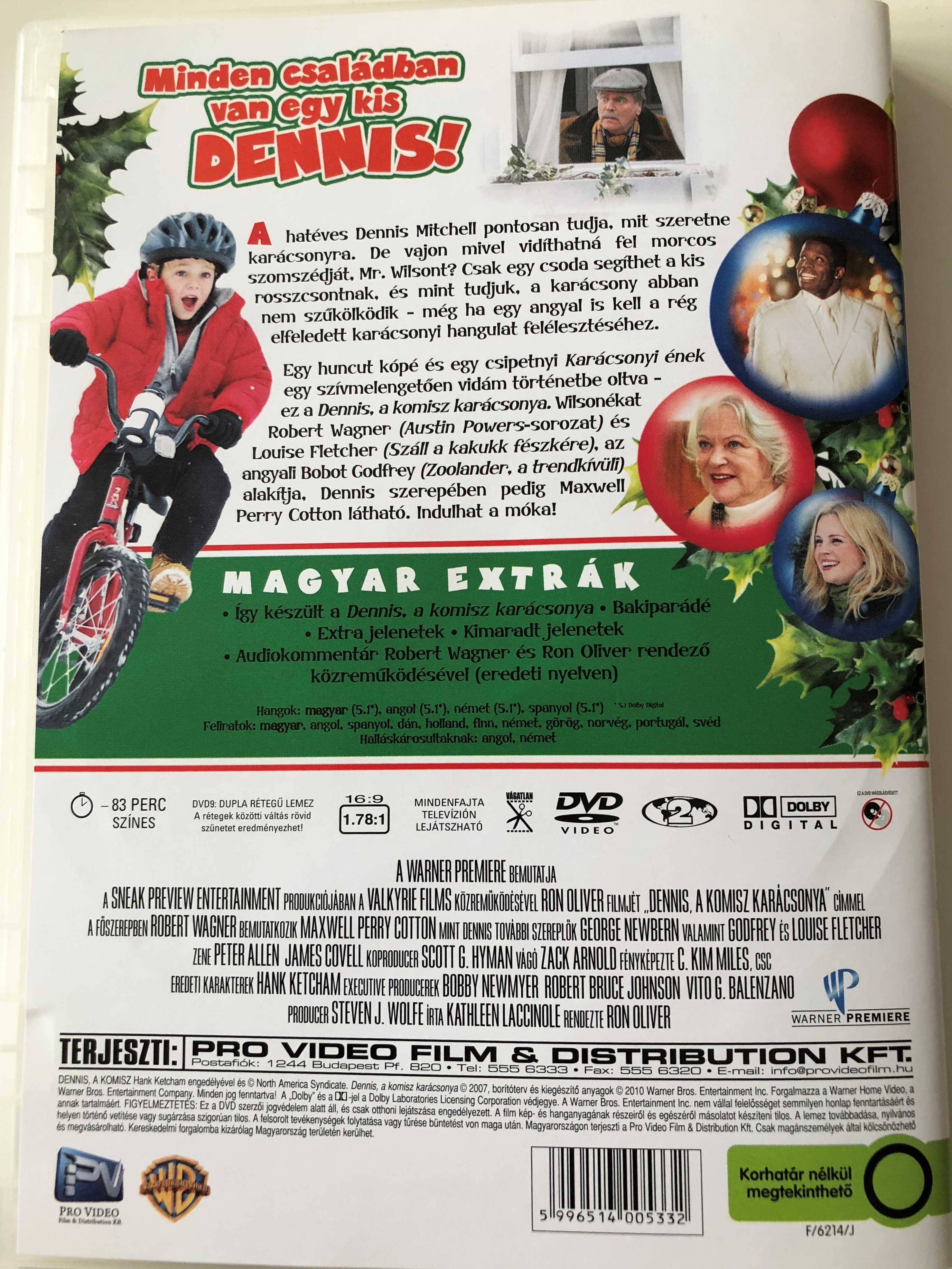 A Dennis The Menace Christmas.A Dennis The Menace Christmas Dvd 2007 Dennis A Komisz Karacsonya Directed By Ron Oliver Starring Robert Wagner Louise Fletcher Maxwell Perry