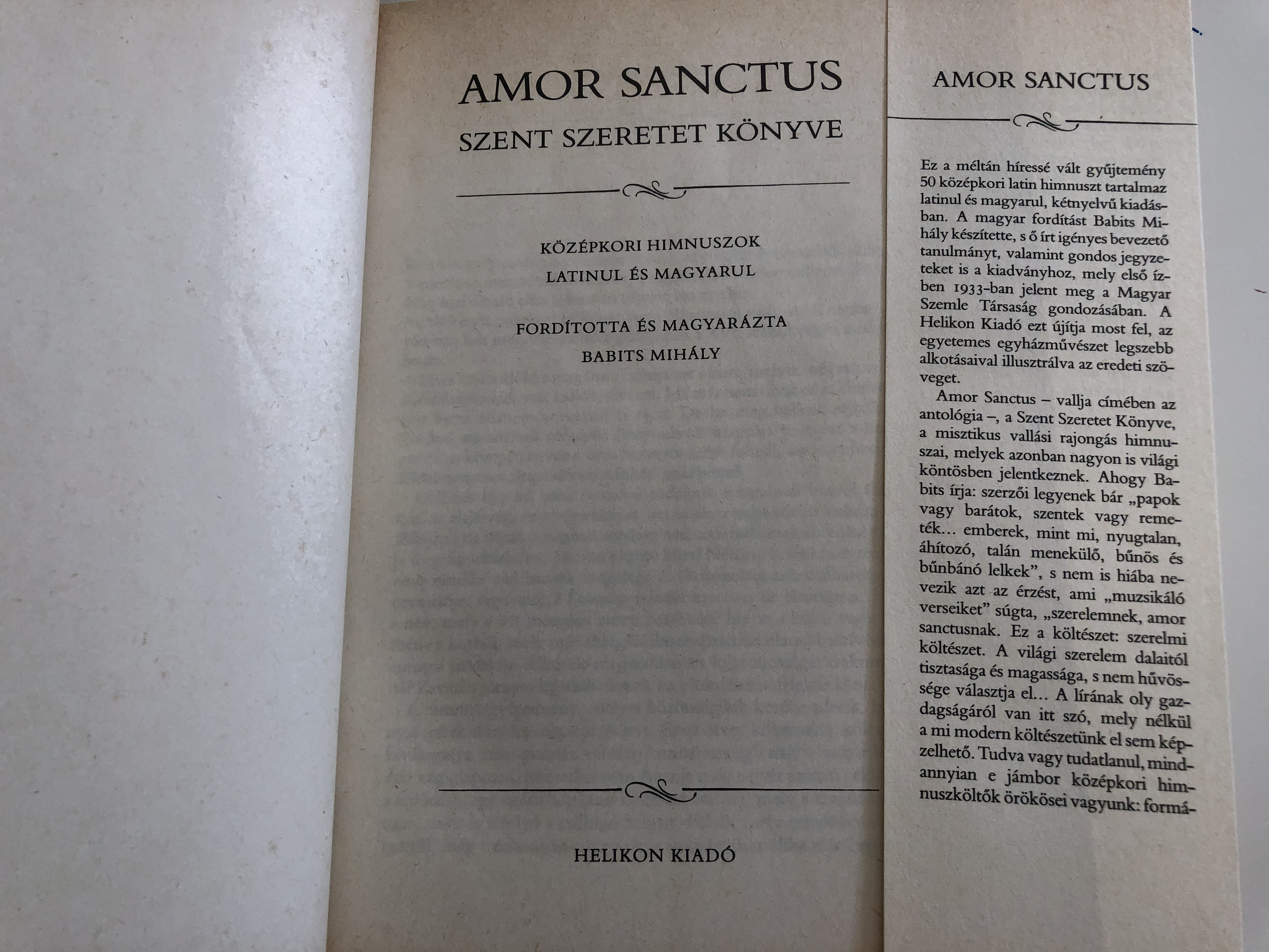 amor-sanctus-medieval-hymns-in-latin-and-hungarian-szent-szeretet-k-nyve-translated-and-interpreted-by-babits-mih-ly-k-z-pkori-himnuszok-latinul-s-magyarul-hardcover-1988-helikon-he213-4-.jpg