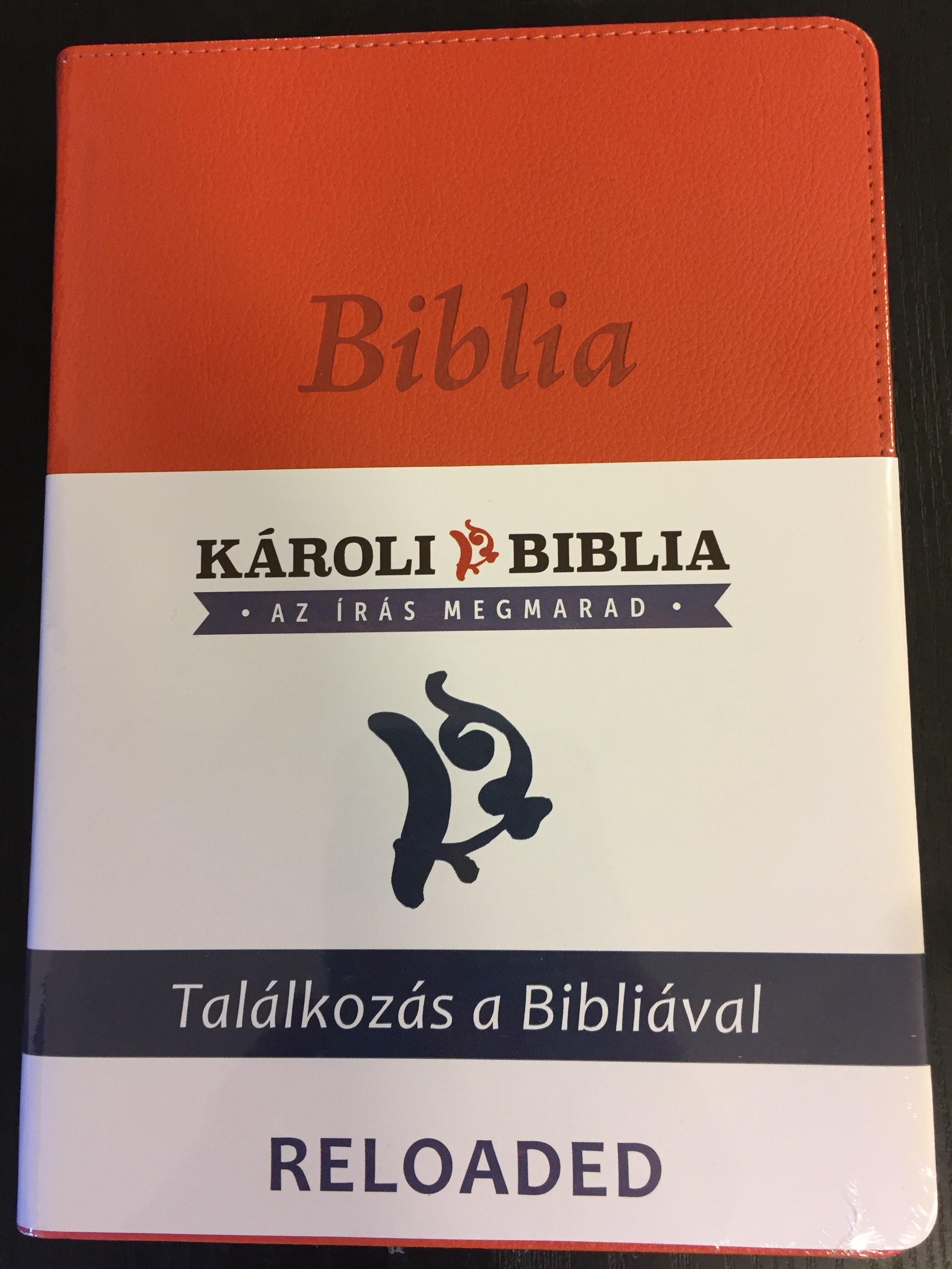 hungarian-k-roli-bible-reloaded-pu-imitation-leather-cover-orange-magyar-biblia-revide-lt-k-roli-k-z-pm-ret-narancs-m-b-r-words-of-god-and-words-of-jesus-in-red-1-.jpg