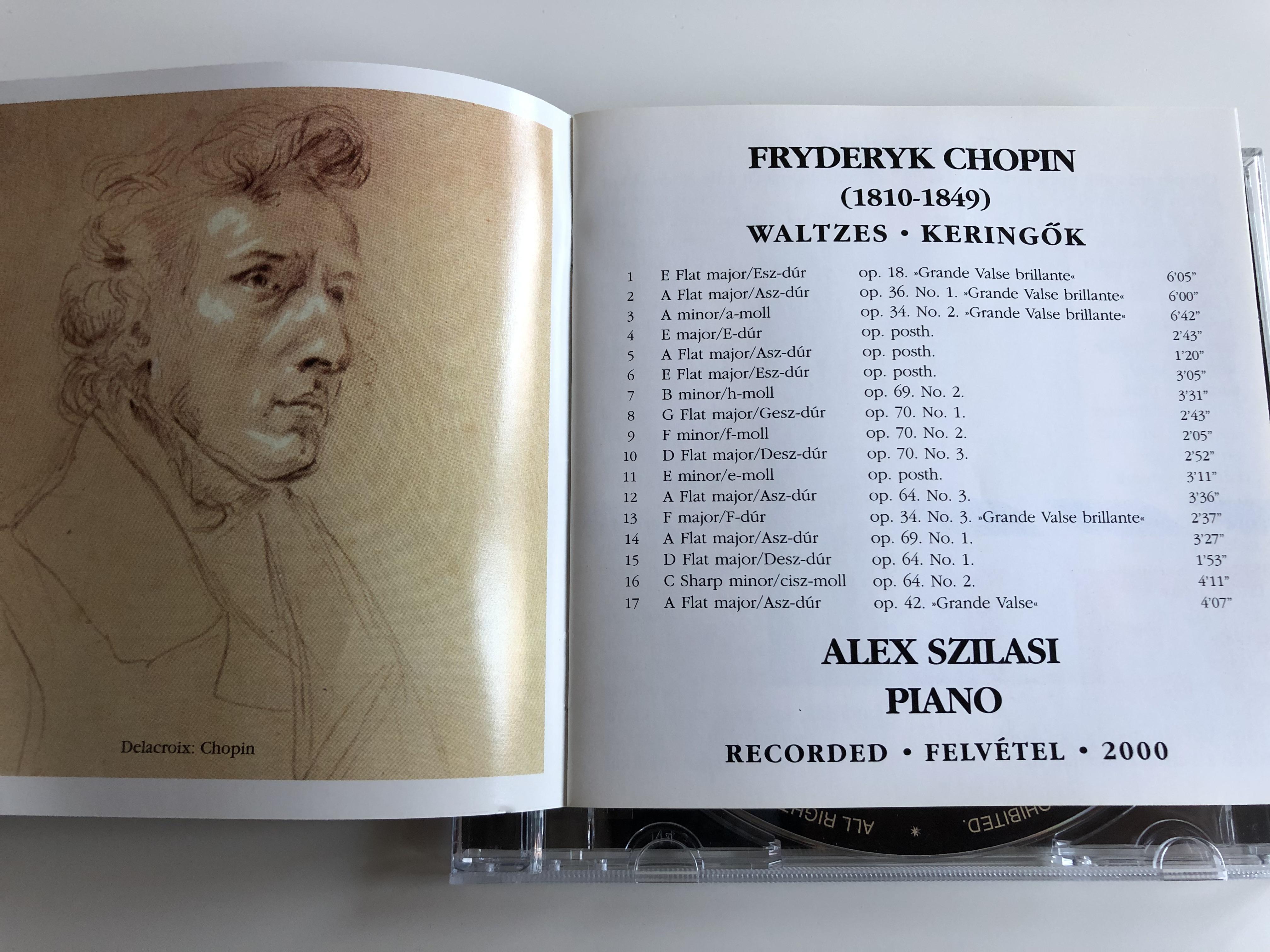 Alex Szilasi plays Chopin Waltzes - Keringők / Chopin keringői - máshogy /  Alex Szilasi - Piano / AUDIO CD 2000 / FRYDERYK CHOPIN / A