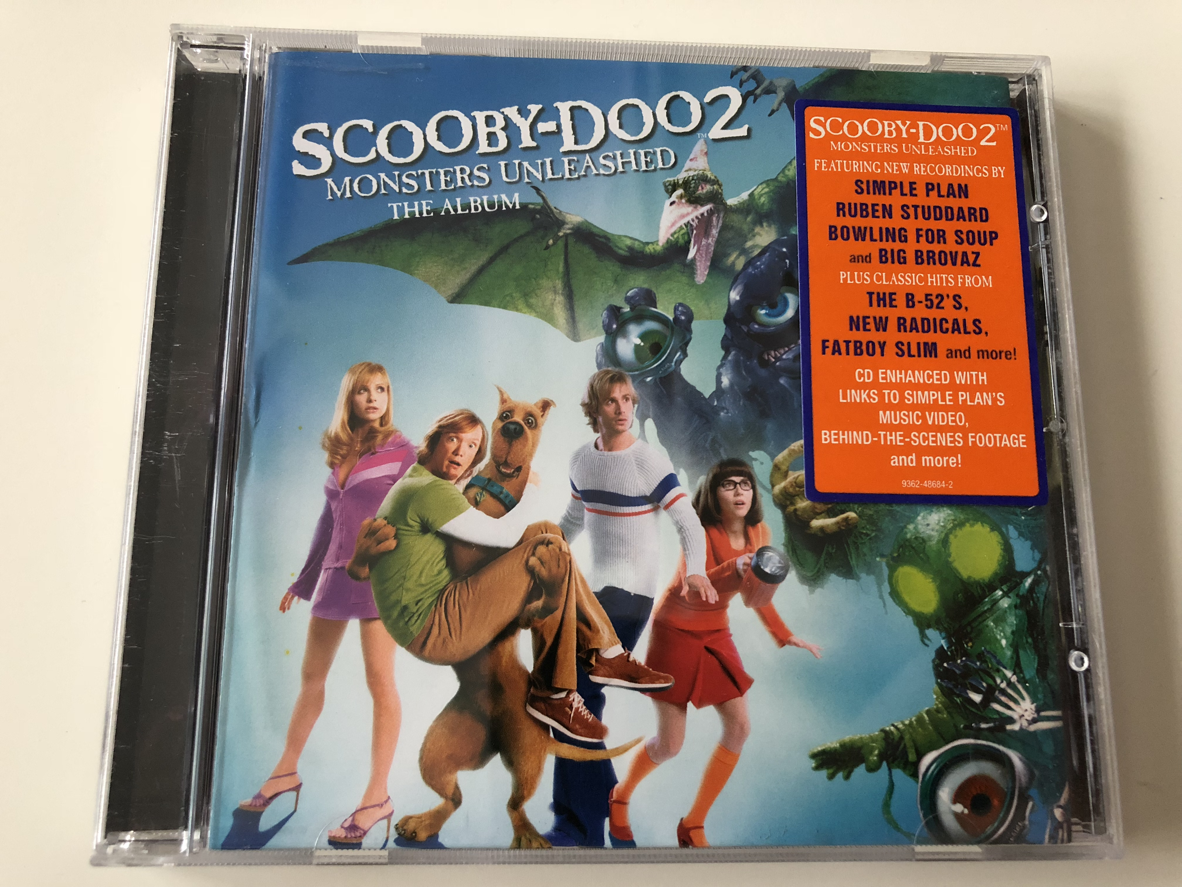 Scooby Doo 2 Monsters Unleashed The Album Motion Picture Soundtrack Audio Cd 2004 Simple Plan Ruben Studdard Bowling For Soup Big Brovaz Pluss Classic Hits From The B 52 S