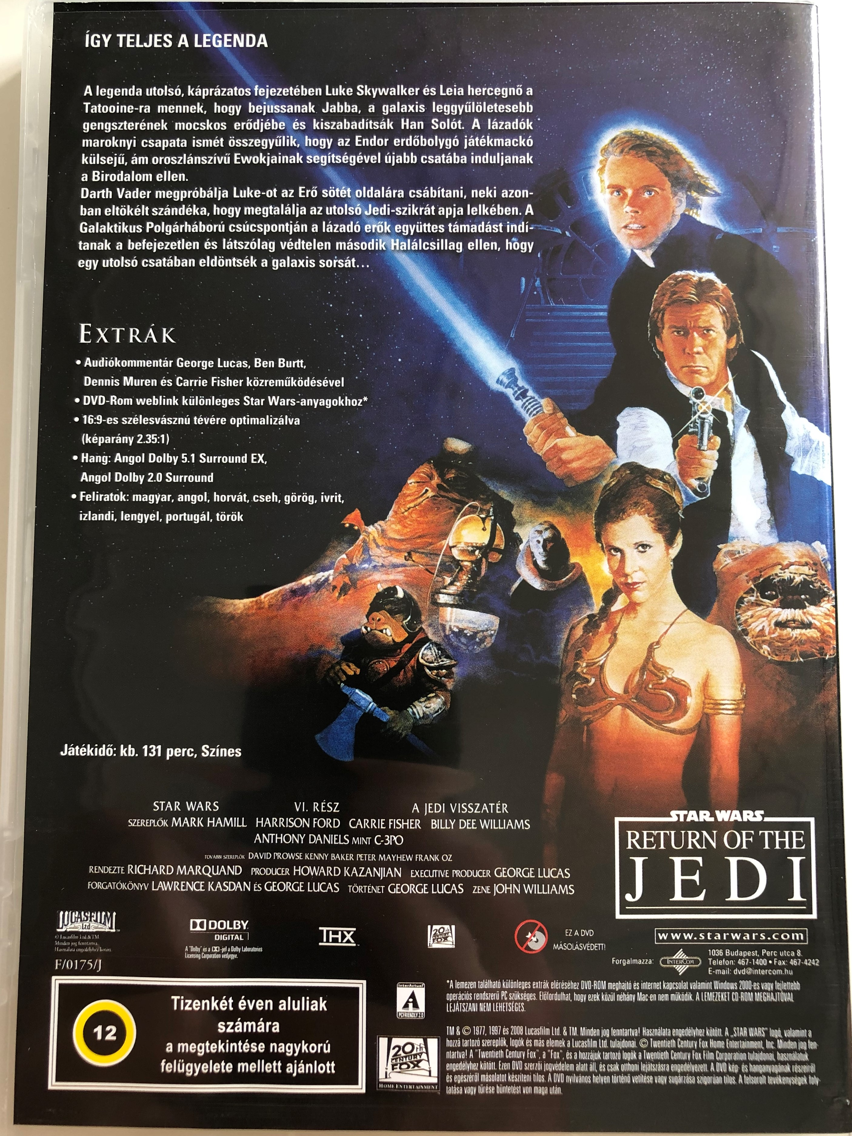 Star Wars Episode Vi Return Of The Jedi Dvd 1983 Star Wars Vi A Jedi Visszater Directed By Richard Marquand Starring Mark Hamill Harrison Ford Carrie Fisher Billy Dee Williams