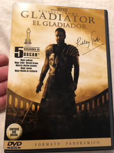 El Gladiador DVD 2000 Gladiator / Directed by Ridley Scott / Starring: Russel Crowe, Joaquin Phoenix, Connie Nielsen / 2 Discs / Panoramic Format (8414533007269)