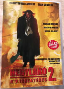 Hegylakó 2 - A visszatérés DVD 1991 Highlander 2 - The Quickening / Directed by Russell Mulcahy / Starring Sir Sean Connery, Christopher Lambert, Michael Ironside, Virginia Madsen, John C. McGiney 5999016344275