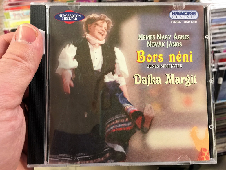 Bors Néni - Nemes Nagy Ágnes / Zenés mesejáték / Hungarian CD 2002 / Lady Pepper - musical tale by Ágnes N. Nemes / Music by János Novák / Hungaroton HCD 13945 (59918111394523)