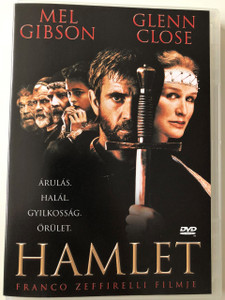 Hamlet DVD 1990 / Directed by Franco Zeffirelli / Starring: Mel Gibson, Glenn Close / W. Shakespeare classic - film adaptation (5999881068085)