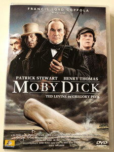Moby Dick DVD 1998 / Directed by Franc Roddam / Starring: Patrick Stewart, Henry Tomas, Gregory Peck / Produced by Francis Ford Coppola