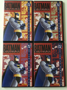 Batman the Animated Series Vol 1. DVD SET 2006 Batman a rajzfilmsorozat 1. kötet - 4 lemez / Directed by, Bruce W. Timm, Eric Radomski / VA: Kevin Conroy, Efrem Zimbalist Jr., Bob Hastings, Robert Costanzo / DC Comics / 4 DVDs / Episodes 1-28 (BatmanVol1DVDset)