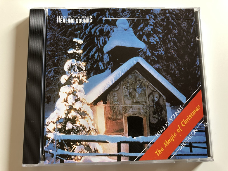 HARMONY WORLD TRANSMUSIC / HEALING SOUNDS - The Magic of Christmas / Meditation / AUDIO CD 1994 / Composed and performed by Lee Ground / Christmas Meditation for small bells, string quartet, flute, oboe, organ, glass vessels, vocals & synthesizer (TheMagicofChristmas)