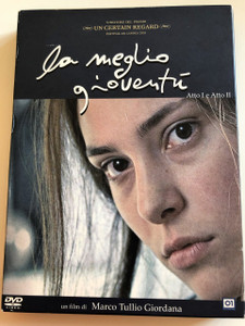 La Meglio Gioventú DVD 2003 The Best of Youth / Directed by Marco Tullio Giordana / Starring: Alessio Boni, Luigi Lo Cascio, Jasmine Trinca, Adriana Asti / 3 DVDs / With Special Content on Disc 3 (8032807010335)