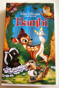Bambi VHS 1942 / Walt Disney Meisterwerk / German / Directed by David Hand / Written by Felix Salten (4011846109426)
