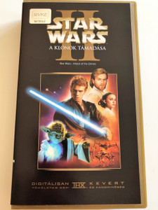 Star Wars Episode II - Attack of the Clones VHS 2002 Star Wars II - A Klónok támadása / Directed by Geroge Lucas / Starring: Ewan McGregor, Natalie Portman, Hayden Christensen, Ian McDiarmid, Samuel L. Jackson (599625605303)