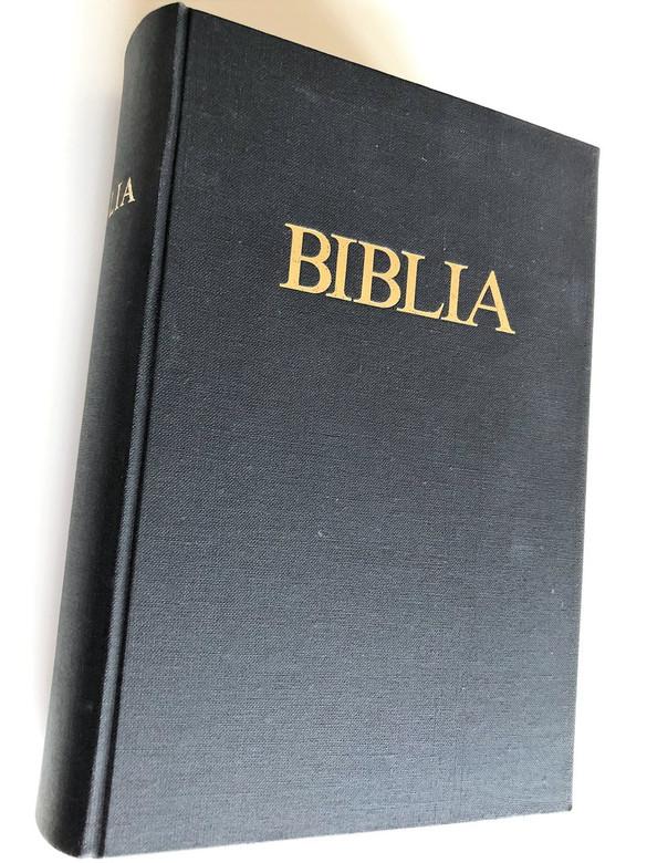 Large Hungarian Family Bible / Catholic 1982 Print / Nagy Magyar Katolikus Csaladi Biblia Fekete Kemenytablas (9789633601891)