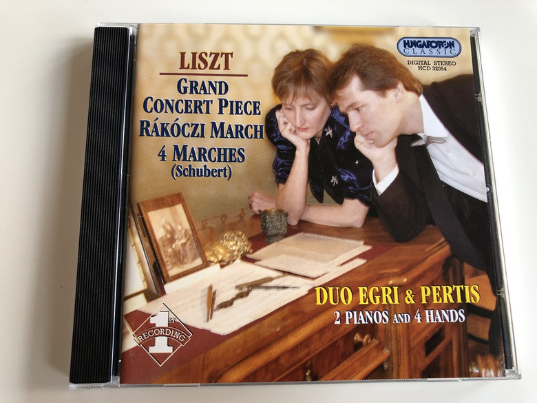 Liszt - Grand Concert Piece, Rákoczi March, 4 Marches (Schubert) INSPIRATIONS / Hungaroton Classic HCD32054 / DUO EGRI & PERTIS / 2 PIANOS AND 4 HANDS / 1ST RECORDING / AUDIO CD 2002 / Monika Egri (Piano), Attila Pertis (Piano) (5991813205421)