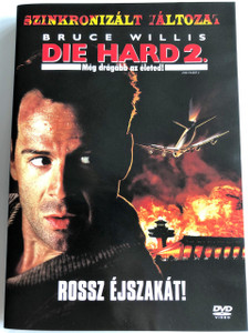 Die Hard 2 DVD 1990 Még drágább az életed (Die Harder) / Directed by Renny Harlin / Starring: Bruce Willis, Bonnie Bedelia, William Atherton, Reginald VelJohnson, Franco Nero, William Sadler, John Amos (5996255712711)