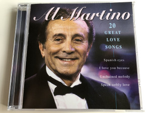 Al Martino - 20 Great Love Songs / AUDIO CD 1996 / American singer and actor of Italian descent (0724348626226)