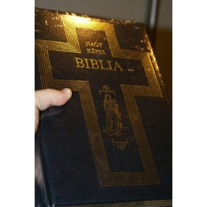 NAGY Magyar KÉPES BIBLIA / Hungarian Huge Pictorial Bible / Bonded Leather