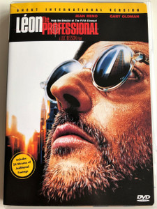 Léon: the professional DVD 1994 / Directed by Luc Besson / Starring: Jean Reno, Gary Oldman, Natalie Portman, Danny Aiello / Uncut International version / Additional 24 min of footage (043396061965)