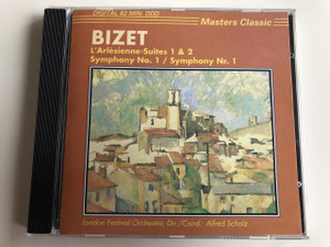 Georges Bizet Audio CD L'Arlésienne-Suites 1 & 2 / Symphony No. 1 / Symphony Nr. 1 / London Festival Orchestra, Conducted by Alfred Scholz / Masters Classic / CLS 4216 (8711638421625)