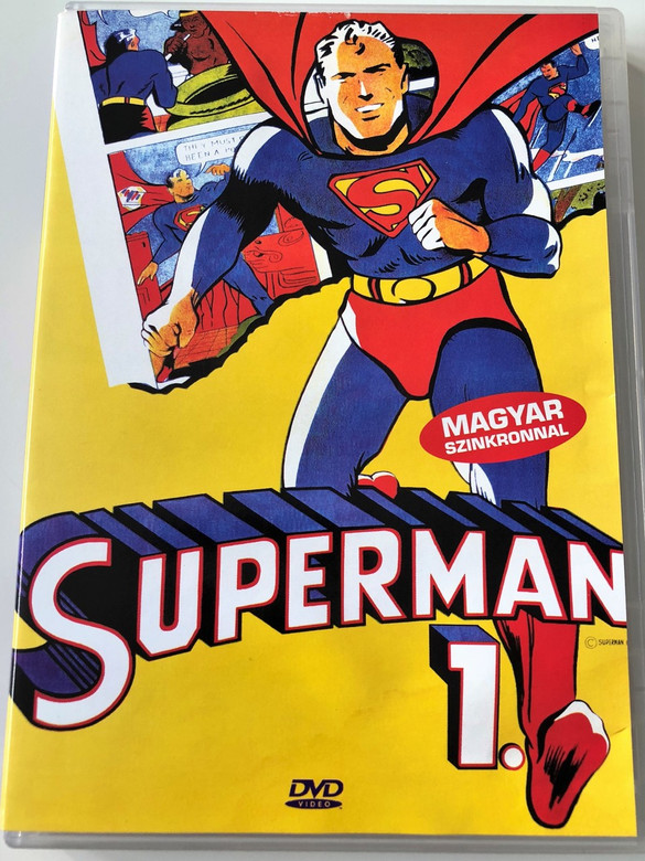 Superman The Animated Series 1. DVD 1996 / Directed by Curt Geda, Dan Riba, Toshihiko Masuda / English & Hungarian dub / 9 Episodes - Season 1 / ADG7131 (5999881767704)