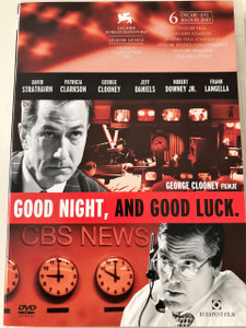 Good night, and Good Luck DVD 2005 Jó estét, jó szerencsét! / Directed by George Clooney / Starring: David Strathairn, Patricia Clarkson, George Clooney, Jeff Daniels, Robert Downey Jr., Frank Langella / Historical drama (5999544243958)