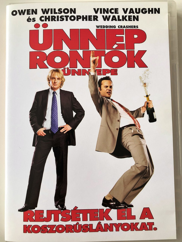Wedding Crashers DVD 2005 Ünneprontók Ünnepe / Directed by David Dobkin / Starring: Owen Wilson, Vince Vaughn, Christopher Walken, Rachel McAdams, Isla Fisher, Bradley Cooper, Jane Seymour (5999048901378)