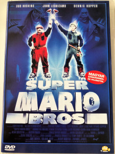 Super Mario Bros DVD 1993 / Directed by Rocky Morton, Annabel Jankel / Starring: Bob Hoskins, John Leguizamo, Dennis Hopper, Samantha Mathis, Fisher Stevens, Fiona Shaw, Richard Edson / Based on Nintendo's Super Mario (5999551921146)