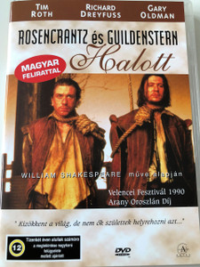 Rosencrantz & Guildenstern Are Dead DVD 1990 Rosencrantz és Guildenstern Halott / Directed by: Tom Stoppard / Starring: Gary Oldman, Tim Roth, Richard Dreyfuss, Iain Glen, Ian Richardson, Donald Sumpter, Joanna Miles, Joanna Roth (5999551920255)