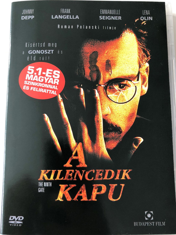 The Ninth Gate DVD 1999 A Kilencedik kapu / Directed by Roman Polanski / Starring: Johnny Depp, Lena Olin, Frank Langella, James Russo, Jack Taylor, Emmanuelle Seigner (5999551920378)