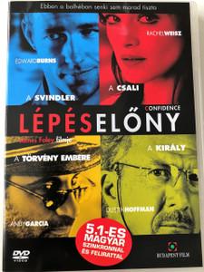 Confidence DVD 2003 Lépéselőny / Directed by James Foley / Starring: Edward Burns, Rachel Weisz, Andy García, Dustin Hoffman (5999551920514)